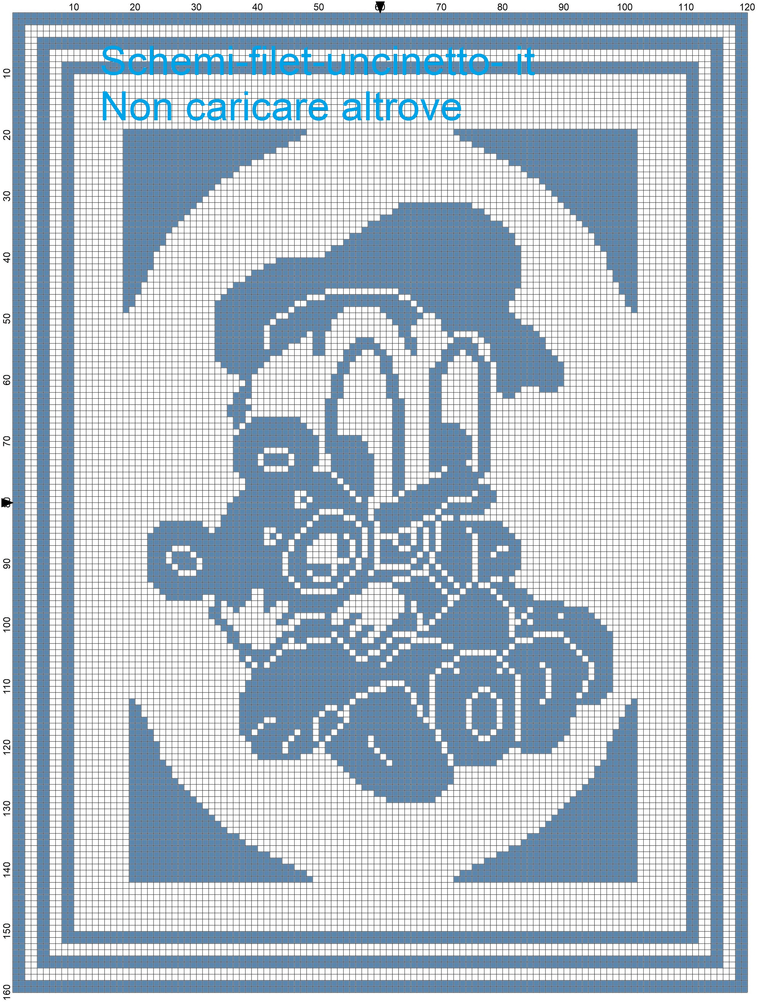 Copertina baby Paperino con orsetto schema filet uncinetto-