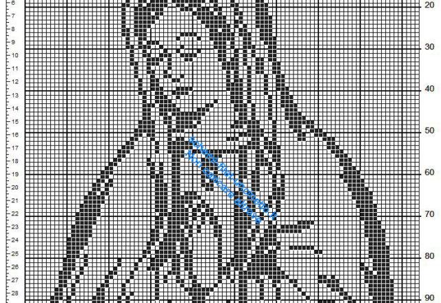 Madonna schema uncinetto filet gratis 84 x 99 quadretti