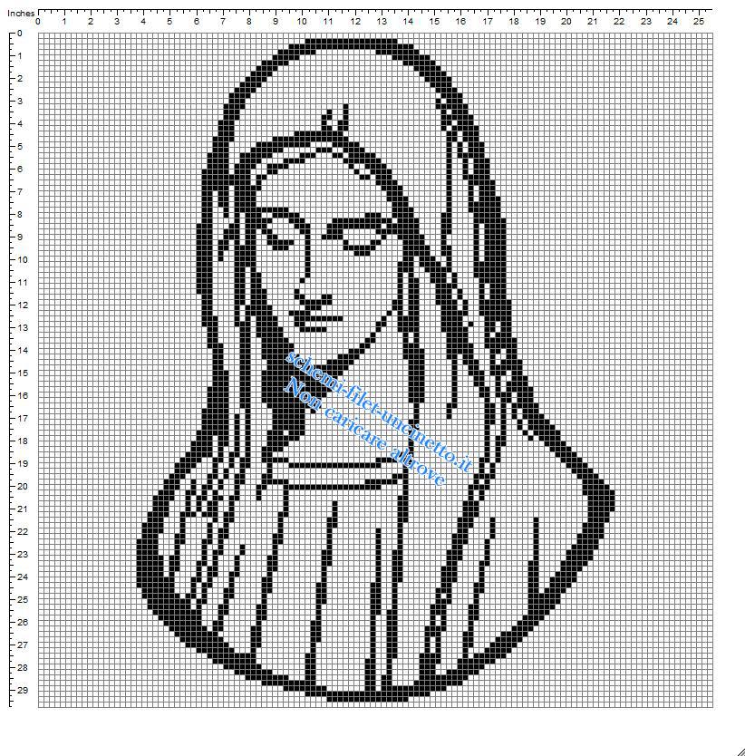 Madonna semplice piccolo e gratuito schema a uncinetto filet