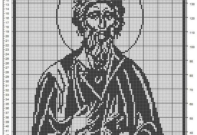 Sant' Andrea schema a uncinetto filet gratis