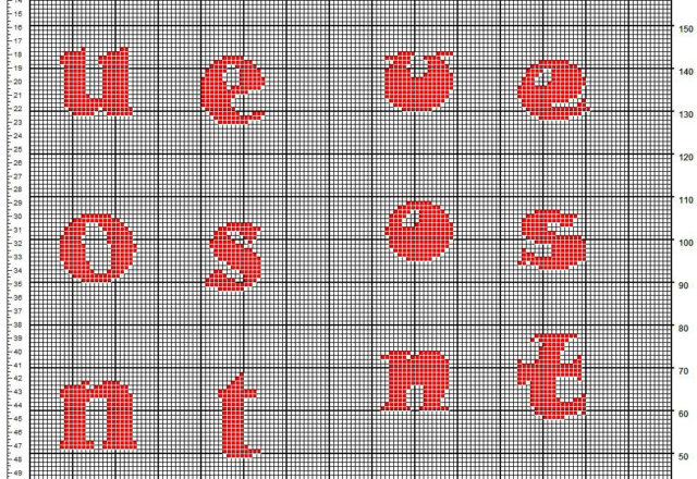 Scritta Buone Feste verticale schema uncinetto filet gratis ideale per fiocchi fuoriporta natalizi