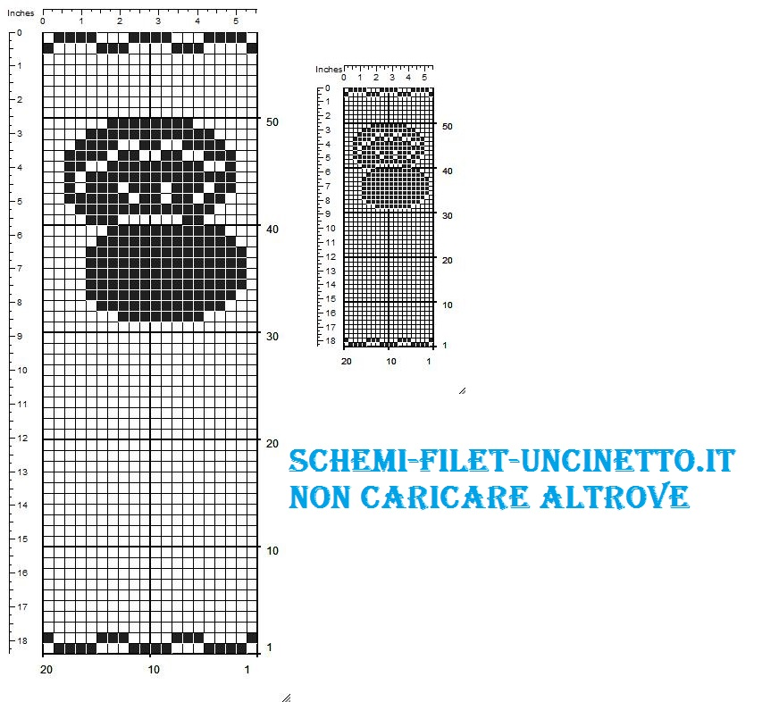 ostrica sacchettino bomboniera schema filet uncnettom gratis (2)